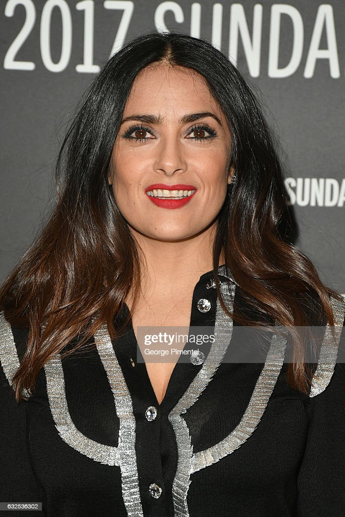 Actress Salma Hayek attends the 'Beatriz At Dinner' Premiere on day 5 of the Sundance Film Festival at Eccles Center Theatre on January 23, 2017 in Park City, Utah.