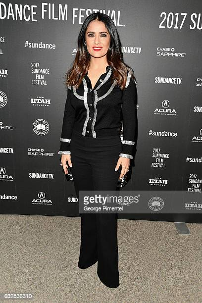 Actress Salma Hayek attends the Beatriz At Dinner Premiere on day 5 of the Sundance Film Festival at Eccles Center Theatre on January 23 2017 in Park...
