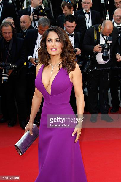 Actress Salma Hayek attends the 'Carol' premiere during the 68th annual Cannes Film Festival on May 17 2015 in Cannes France