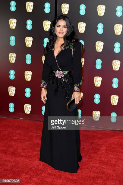 Actress Salma Hayek attends the EE British Academy Film Awards held at Royal Albert Hall on February 18 2018 in London England