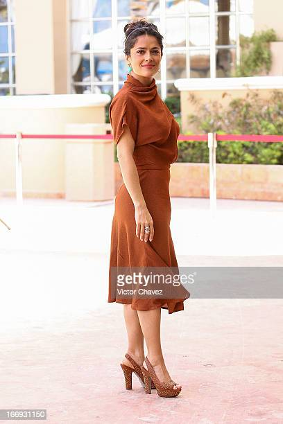 Actress Salma Hayek attends the Grown Ups 2 photocall during The 5th Annual Summer Of Sony on April 18 2013 in Cancun Mexico