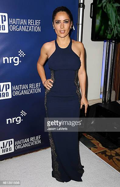 Actress Salma Hayek attends the 'Help Haiti Home' gala at Montage Hotel on January 10 2015 in Los Angeles California