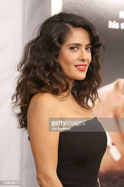"""Actress Salma Hayek attends the """"Here Comes The Boom"""" premiere at AMC Loews Lincoln Square on October 9, 2012 in New York City."""