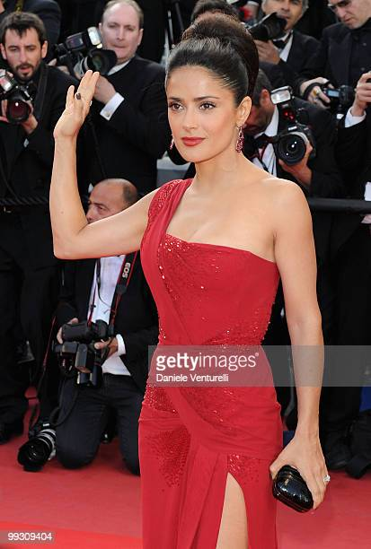 Actress Salma Hayek attends the 'Il Gattopardo' premiere held at the Palais des Festivals during the 63rd Annual International Cannes Film Festival...