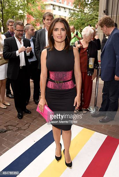 Actress Salma Hayek attends the Kahlil Gibran's The Prophet premiere during the 2014 Toronto International Film Festival at Ryerson Theatre on...