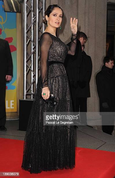 Actress Salma Hayek attends the La Chispa De La Vida Premiere during day seven of the 62nd Berlin International Film Festival at the...