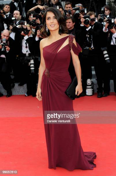 Actress Salma Hayek attends the Opening Night Premiere of 'Robin Hood' at the Palais des Festivals during the 63rd Annual International Cannes Film...