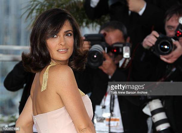 Actress Salma Hayek attends the Palme d'Or Award Ceremony Photo Call held at the Palais des Festivals during the 63rd Annual International Cannes...