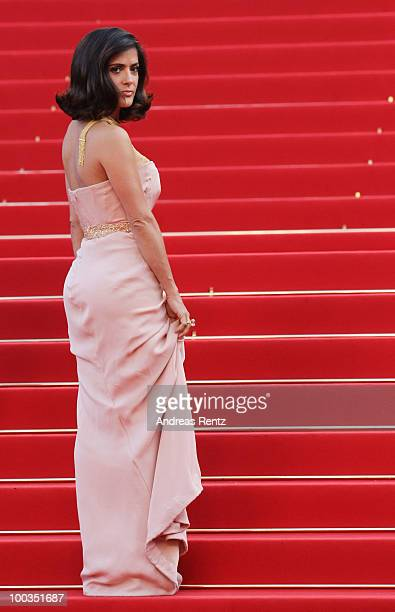 Actress Salma Hayek attends the Palme d'Or Award Closing Ceremony held at the Palais des Festivals during the 63rd Annual Cannes Film Festival on May...
