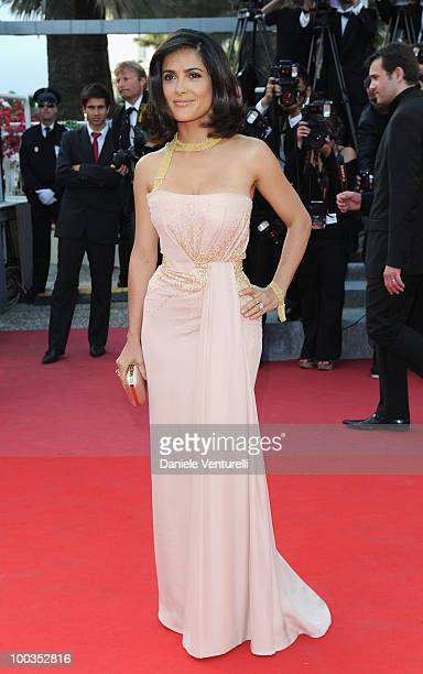 Actress Salma Hayek attends the Palme d'Or Closing Ceremony held at the Palais des Festivals during the 63rd Annual International Cannes Film...