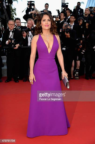 Actress Salma Hayek attends the Premiere of Rocco And His Brothers during the 68th annual Cannes Film Festival on May 17 2015 in Cannes France