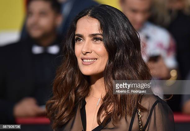 Actress Salma Hayek attends the premiere of Sony's 'Sausage Party' at Regency Village Theatre on August 9 2016 in Westwood California
