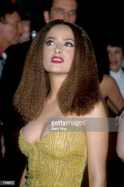 Actress Salma Hayek attends the premiere of the film Studio 54 August 24 1998 in Los Angeles CA Hayek acted in a number of films including Wild Wild...