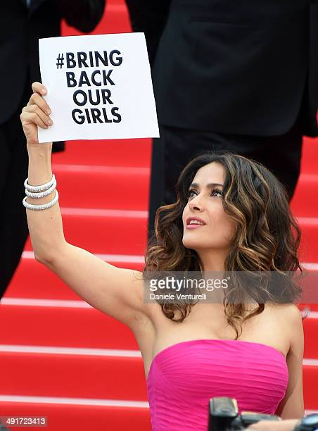 Actress Salma Hayek attends 'The Prophet' Premiere at the 67th Annual Cannes Film Festival on May 17 2014 in Cannes France