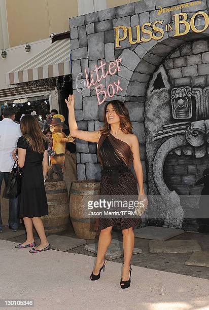Actress Salma Hayek attends the Puss In Boots Los Angeles Premiere at Regency Village Theatre on October 23 2011 in Westwood California