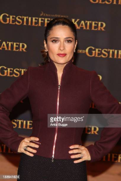 Actress Salma Hayek attends the 'Puss In Boots' Premiere at CineStar on November 22 2011 in Berlin Germany