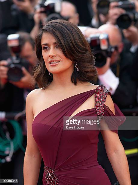 Actress Salma Hayek attends the Robin Hood Premiere at the Palais des Festivals during the 63rd Annual Cannes International Film Festival on May 12...