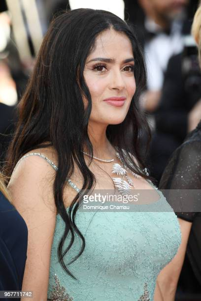 Actress Salma Hayek attends the screening of Girls Of The Sun during the 71st annual Cannes Film Festival at Palais des Festivals on May 12 2018 in...