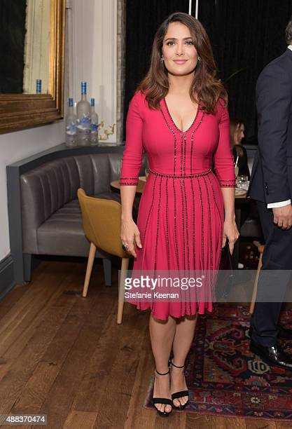 Actress Salma Hayek attends the Septembers of Shiraz TIFF Party Hosted By GREY GOOSE Vodka at Byblos on September 15 2015 in Toronto Canada