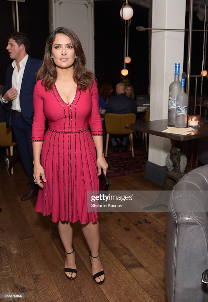 Actress Salma Hayek attends the Septembers of Shiraz TIFF Party Hosted By GREY GOOSE Vodka at Byblos on September 15, 2015 in Toronto, Canada.