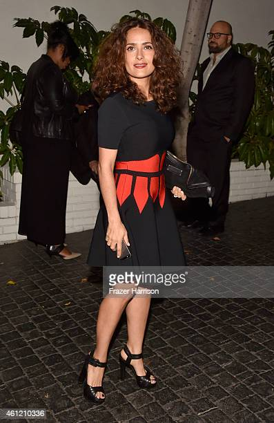 Actress Salma Hayek attends the W Magazine celebration of the 'Best Performances' Portfolio and The Golden Globes with Cadillac and Dom Perignon at...