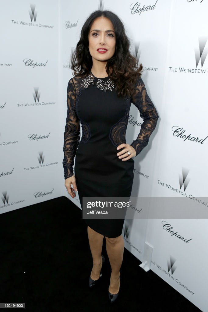 Actress Salma Hayek attends The Weinstein Company Academy Award Party hosted by Chopard at Soho House on February 23, 2013 in West Hollywood, California.