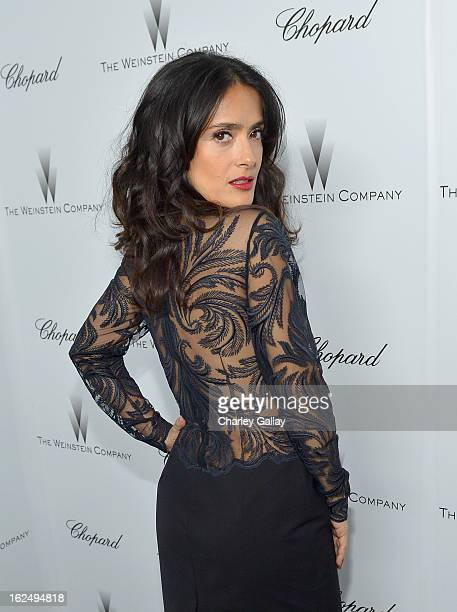 Actress Salma Hayek attends The Weinstein Company and Chopard's Academy Award Party in association with Grey Goose at Soho House on February 23 2013...