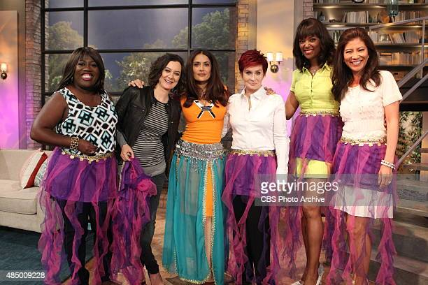 Actress Salma Hayek discusses her new animated film on The Talk Friday August 14 2015 on the CBS Television Network From left Sheryl Underwood Sara...