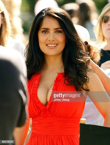 Actress Salma Hayek filming on location for '30 Rock' on October 10 2008 in New York City
