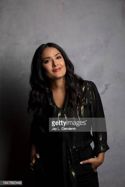 Actress Salma Hayek, from 'The Hummingbird Project' is photographed for Los Angeles Times on September 9, 2018 in Toronto, Ontario. PUBLISHED IMAGE....