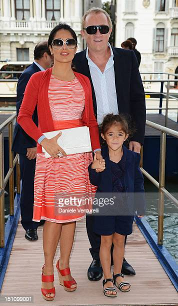 """Actress Salma Hayek , her husband Francois-Henri Pinault and her daughter Valentina Pinault attend the """"La Voce Delle Immagini"""" Exhibition at the..."""