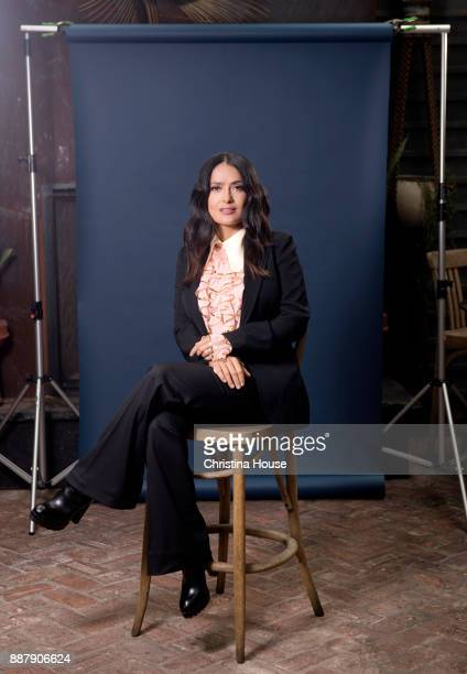 Actress Salma Hayek is photographed for Los Angeles Times on November 2 2017 in Los Angeles California PUBLISHED IMAGE CREDIT MUST READ Christina...