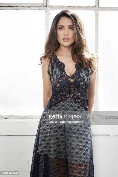 110093007 Actress Salma Hayek is photographed for Madame Figaro on June 6 2014 in Paris France Dress Makeup Yves Saint Laurent PUBLISHED IMAGE CREDIT...