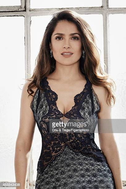 110093011 Actress Salma Hayek is photographed for Madame Figaro on June 6 2014 in Paris France Dress Makeup Yves Saint Laurent CREDIT MUST READ Driu...