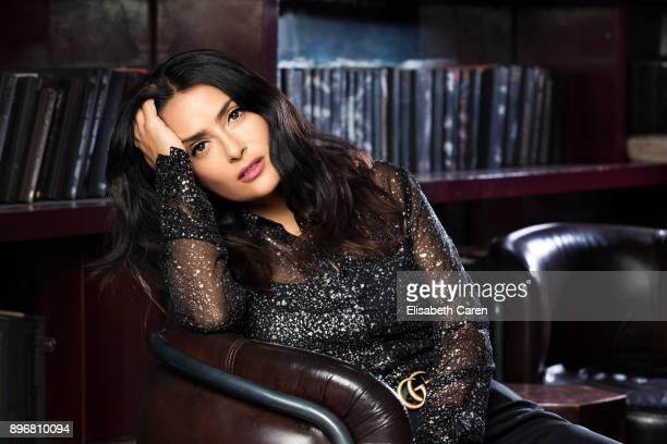 Actress Salma Hayek is photographed for The Wrap on November 2 2017 in Los Angeles California