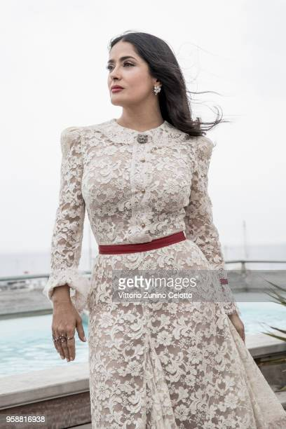 Actress Salma Hayek is photographed on May 13 2018 in Cannes France