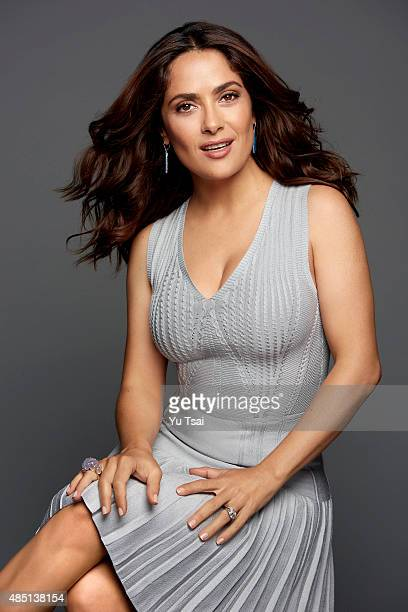 Actress Salma Hayek is photographednfor People Magazine on August 1 2015 in Los Angeles California PUBLISHED IMAGE