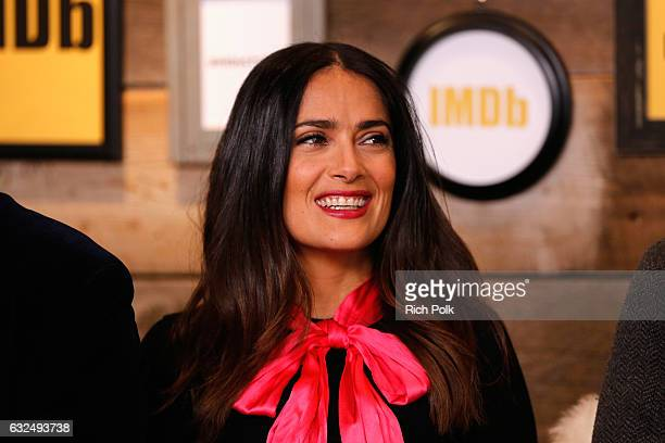 Actress Salma Hayek of 'Cast Change' attends The IMDb Studio featuring the Filmmaker Discovery Lounge presented by Amazon Video Direct Day Four...
