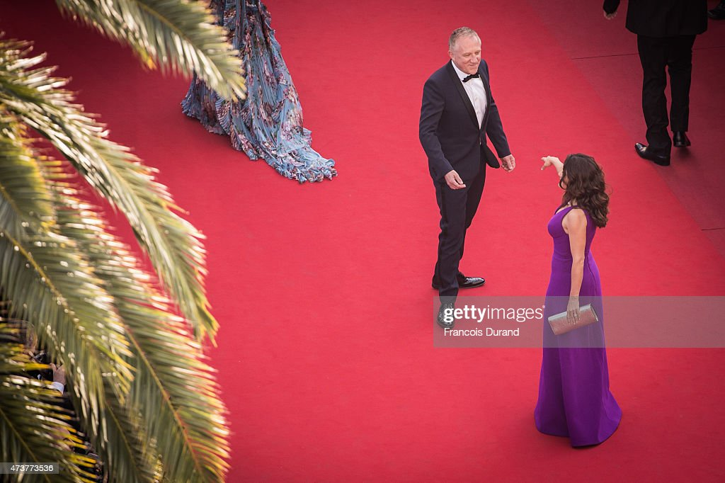Actress Salma Hayek Pinault and Francois-Henri Pinault attend the Premiere of 'Rocco And His Brothers' during the 68th annual Cannes Film Festival on May 17, 2015 in Cannes, France.