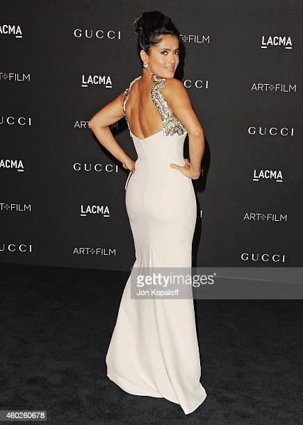 Actress Salma Hayek Pinault arrives at the 2014 LACMA Art Film Gala Honoring Quentin Tarantino And Barbara Kruger at LACMA on November 1 2014 in Los...