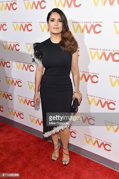 Actress Salma Hayek Pinault attends the 2016 Women's Media Center awards on September 29 2016 in New York City