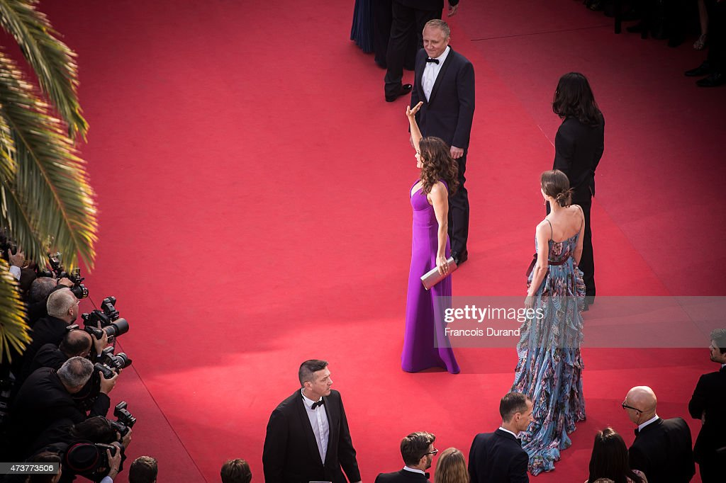 Actress Salma Hayek Pinault,Francois-Henri Pinault, Alessandro Michele and Charlotte Casiraghi attend the Premiere of 'Rocco And His Brothers' during the 68th annual Cannes Film Festival on May 17, 2015 in Cannes, France.