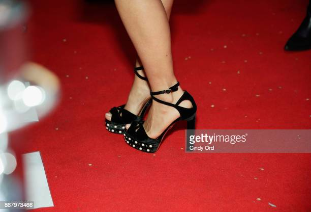 Actress Salma Hayek shoe detail attends Red Carpet Gala Screening of 'Mudbound' at Trustees Theater during the 20th Anniversary SCAD Savannah Film...