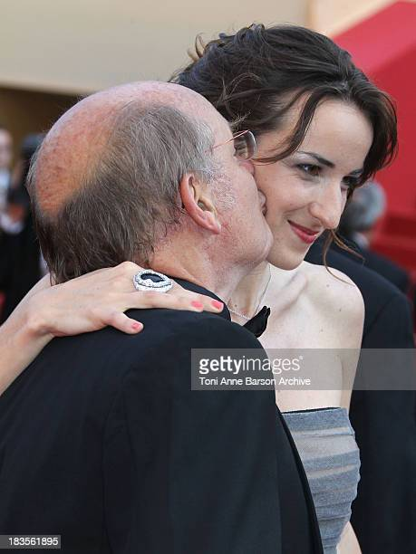 Actress Salome Stevenin and guest attends the Palme d'Or Closing Ceremony held at the Palais des Festivals during the 63rd Annual International...