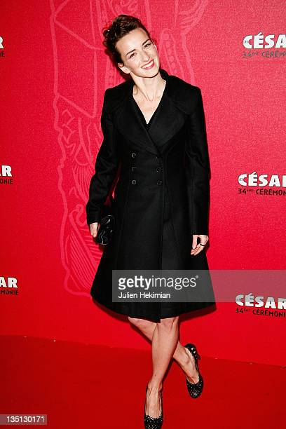 Actress Salome Stevenin arrives at the Cesar Film Awards 2009 at the Theatre du Chatelet on February 27 2009 in Paris France