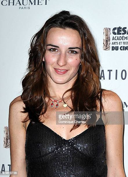 Actress Salome Stevenin attends the Chaumet's cocktail party for Cesar's Revelations on January 18 2010 in Paris France