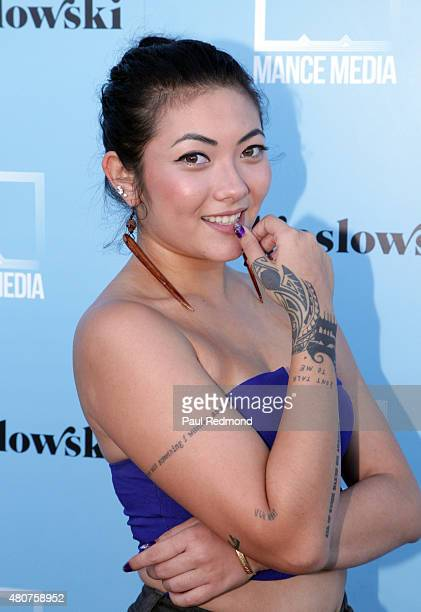 Actress Sam Aotaki attends the screening of Mance Media's 'The Young Kieslowski' at the Vista Theatre on July 14 2015 in Los Angeles California