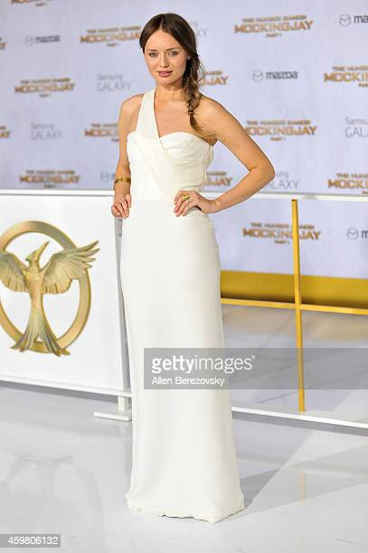 """Actress Sam Claflin arrives at the Los Angeles premiere of """"The Hunger Games: Mockingjay - Part 1"""" at Nokia Theatre L.A. Live on November 17, 2014 in..."""