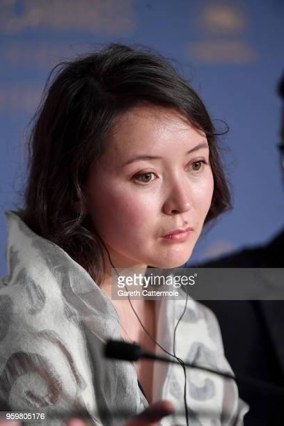 Actress Samal Yeslyamova attends Ayka Press Conference during the 71st annual Cannes Film Festival at Palais des Festivals on May 18 2018 in Cannes...