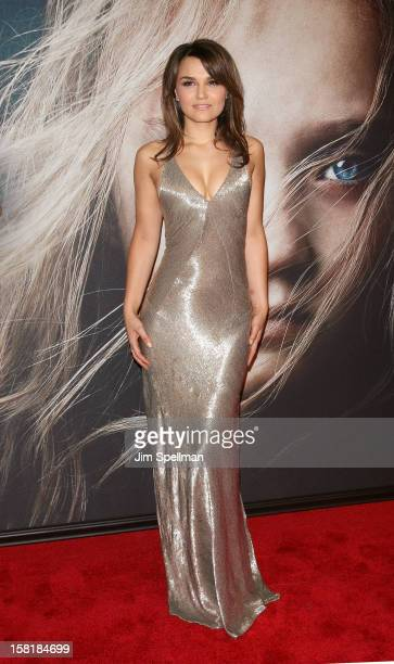 Actress Samantha Barks attends the 'Les Miserables' New York Premiere at Ziegfeld Theatre on December 10 2012 in New York City